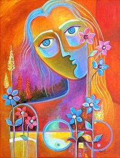 Abstrait peinture moderne Art acrylique sur toile par MarlinaVera