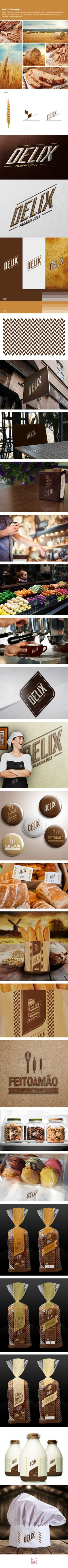 Delix is a chic bakery and deli retail space based in Rio de janeiro, Brazil. The corporate identity is directly derived from the profile of the firm: A small business which deals gourmet breads and prides itself on handmade and simple sweet treats.Cred…