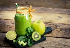 Smoothie med grønne frugter til at få slank talje Week Detox Diet, Detox Diet For Weight Loss, Detox Diet Recipes, Liver Detox Diet, Detox Diet Plan, Kiwi, Power Smoothie, Smoothie Drinks, Clean Eating Menu