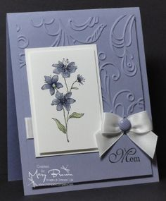 mother's day card made with stampin' up supplies-violets for you