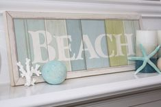 "[Decor]ography: My ""Ahhh, Sweet Summer"" Mantel!"