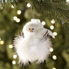 Feather Snowman Ornament - would like to learn how to make something like this