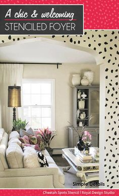 Royal Design Studio - A Chic and Welcoming Stenciled Foyer Entry