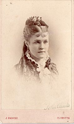 CDV - Vintage Photograph Victorian Young Lady . PLYMOUTH. England  c1870s
