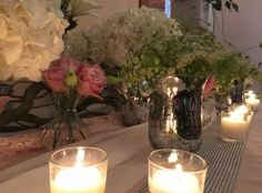 Date night. … flowers, candlelight and catering by Cuisine & Events. Night Flowers, Event Planning, Catering, Events, Candles, Table Decorations, Home Decor, Kitchens, Decoration Home