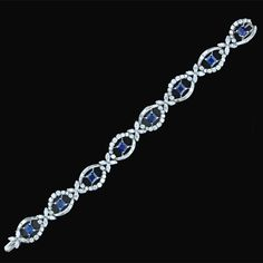 Sapphire and Diamond Bracelet  1950s  Lang Antiques