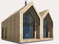 With a tiny footprint, understated modern design and sustainable features like insulation made from 100% recycled newspapers, double glazed windows and the ability to achieve zero carbon status, these sophisticated prefabs definitely are overcompensating for their small size - and we like it!