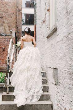 Tendance Robe De Mariée 2017/ 2018 : The back of this dress is amazing! www.stylemepretty | Photography: Judy Pak