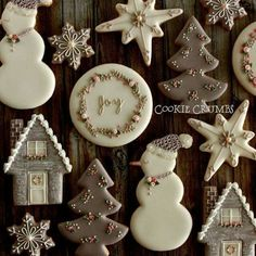grey & pink Christmas cookies - New Ideas Christmas Biscuits, Christmas Sugar Cookies, Christmas Sweets, Noel Christmas, Pink Christmas, Holiday Cookies, Christmas Baking, Gingerbread Cookies, Beautiful Christmas