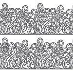 Flower Line Sugar Dress Lace Mat