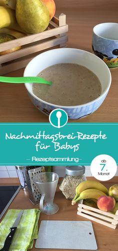 Rezepte für Nachmittagsbrei. Getreide-Obst-Brei für Babys ab dem 7. Monat.
