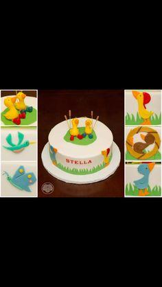 Gossie, Gertie, Ollie, Peedie, and BooBoo cake