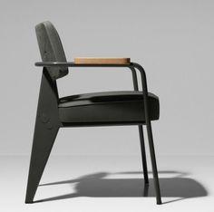 Fauteuil Direction Chair by Prouvé