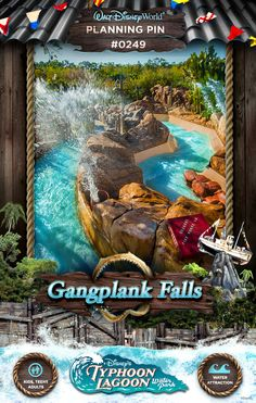 Walt Disney World Planning Pins: Gangplank Falls