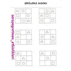 Sudoku Puzzles, Matching Games, Kindergarten, Preschool, Classroom, Activities, Education, Math, Perception