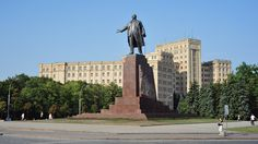 Lenin, overlooking the square- Kharkiv, Ukraine, The city in which Will Artur was born.