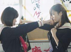 Sakura Miyawaki and Haruka Shimazaki in dorama Majisuka Gakuen 4 #島崎遥香 #宮脇咲良 #AKB48 # HKT48 #マジすか学園4