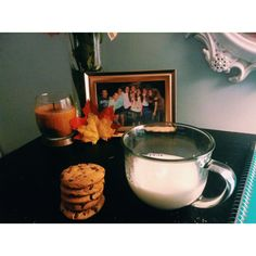 Cookies and milk! For fall! By Ireland Rose
