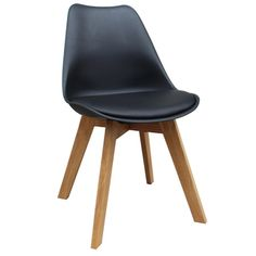 Scandinavian Lifestyle Brighton Faux Leather Oak Wood Dining Chair (Pack of 2) | Overstock.com Shopping - The Best Deals on Dining Chairs