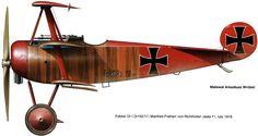 Fokker Dr.I Unit: Jasta 11, JG I Serial: Dr.152/17 Pilot - Ritt Manfred von Richthofen.