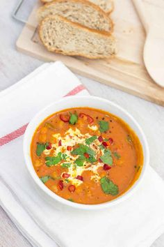 Spicy Chickpea, Coconut, and Tomato Soup