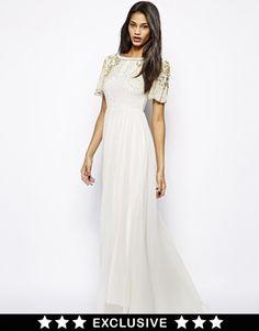 Virgos Lounge Raina Maxi Dress with Embellished Shoulder