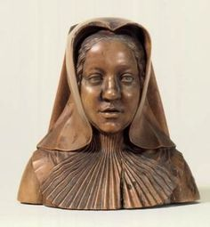 Margaret of Austria as a widow by Conrat Meit 1518 with Inscription on the Base: MARGARITA GuBERNATRIX BELGIAE