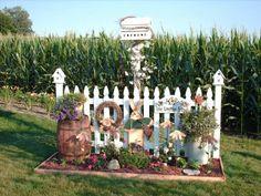 Fences Garden Trees, Garden Yard Ideas, Garden Projects, Garden Art, Lawn And Garden, Outdoor Landscaping, Front Yard Landscaping, Outdoor Gardens, Outdoor Decor