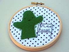 Cactus Embroidery Hoop from Tea and Craft