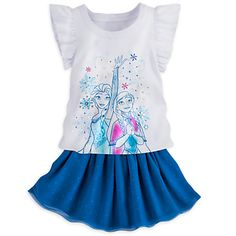 Anna and Elsa Frozen Skirt Set for Girls | Disney Store