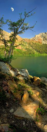 """Moon rise over Green Lake"" - Hoover Wilderness, Eastern Sierra (eastern side of the Sierra Nevada Mountains), California"