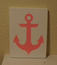 Anchor Canvas Painting on Etsy, $10.00