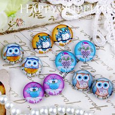 10pcs 12mm (MGC83) Handmade Photo Glass Cabochon. $3.20, via Etsy.
