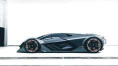 Lamborghini has just unveiled Terzo Millennio, a new design concept about the future of the super sports cars. Super Sport Cars, Super Cars, Lamborghini Espada, Pretty Cars, Futuristic Cars, Car In The World, Future Car, Toyota Celica, Car Ins
