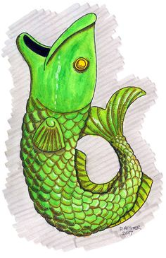 Fish drawing by Darren Hester | Doodle Addicts