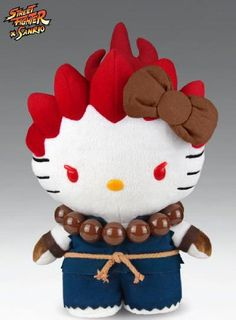 2013 SDCC Comic-Con Street Fighter x Sanrio Hello Kitty x Akuma Plush
