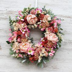 Blush Peonies, Peony, Spring Front Door Wreaths, Spring Wreaths, Pink Hydrangea, Lambs Ear, Pink Champagne, Season Colors, Summer Wreath