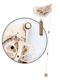 This Wooden Mechanical Clock Kit lets you build a clock without all of that fancy casing around it. Build your own clock and then display it and use it to keep the time while impressing your friends.  It uses a pendulum and weight to