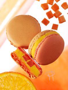 Pierre Hermé - carrots, orange and cinnamon macarons...