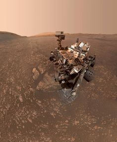 "SELFIE CURIOSITY ROVER ON MARS REPRINT 13/"" x 19/"" POSTER"