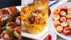 50 Exciting Bite-Size Appetizers You Need To Try - HomelySmart One Bite Appetizers, Appetizers For Party, Appetizer Recipes, Christmas Appetizers, Party Snacks, Toothpick Appetizers, Birthday Snacks, Elegant Appetizers, Tapas Recipes