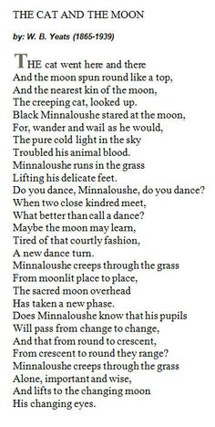 Minna was named after this poem by W.B. Yeats,