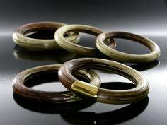 Wood Bracelet with Gold by Tatiana Apraez