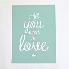 Affiche All you need is love Cinqmai - Deco Graphic
