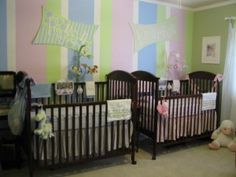 Color and Décor for Your Boy/Girl Twin Nursery