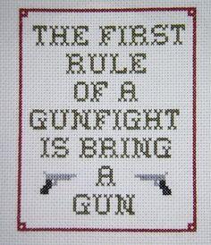 Gunfight Cross Stitch