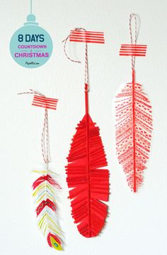 Feather-christmas-ornaments