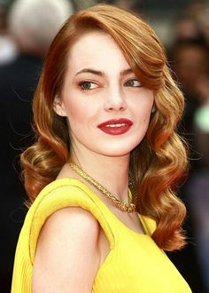 Vintage Wedding Hair Emma Stone - Old Hollywood Glam Hairstyle Formal Hairstyles, Vintage Hairstyles, Glam Hairstyles, Emma Stone Hairstyles, Emma Stone Updo, 1940s Hairstyles For Long Hair, Emma Stone Makeup, Glamorous Hairstyles, Side Part Hairstyles