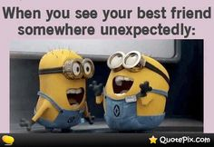 Best collections of Despicable me minions quotes and funny sayings. and I hope you gonna like it. These funny minions gonna make your day special. Best Friend Quotes, Your Best Friend, Quote Friends, Real Friends, Special Friends, Childhood Friends, Childhood Memories, Cute Quotes, Funny Quotes