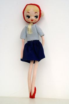 1960s Japanese Cloth Pose Doll